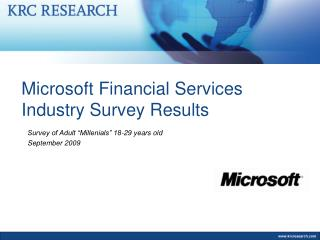Microsoft Financial Services Industry Survey Results