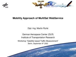 Mobility Approach of MultiSat WebService