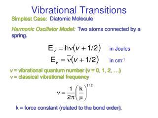 Vibrational Transitions