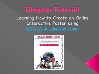 Glogster  Tutorial