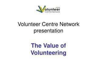 Volunteer Centre Network presentation