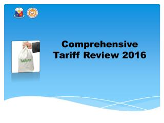 Comprehensive Tariff Review 2016