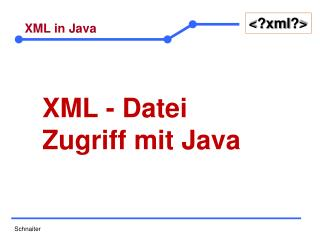 XML in Java