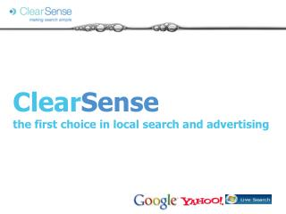 Clear Sense the first choice in local search and advertising