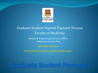Graduate Student Payments