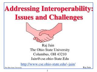 Addressing Interoperability:  Issues and Challenges