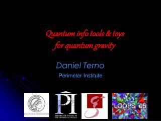 Quantum info tools  toys for quantum gravity