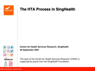 The HTA Process in  SingHealth