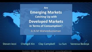 Are Emerging Markets  Catching Up with  Developed Markets in Terms of Consumption ?