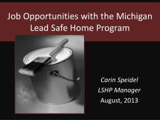 Job Opportunities with the Michigan Lead Safe Home Program