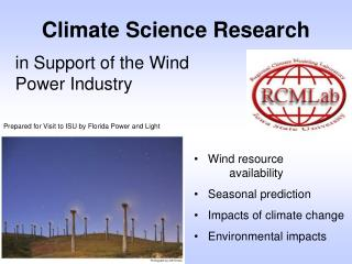 Climate Science Research