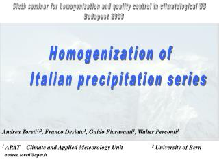 Homogenization of