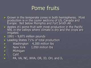 Pome fruits