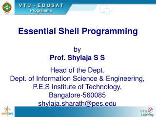 Essential Shell Programming