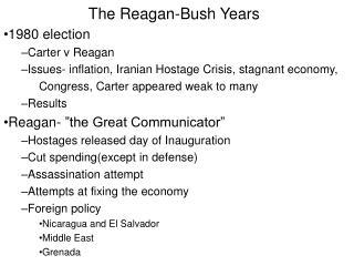 The Reagan-Bush Years