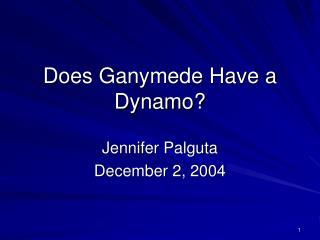 Does Ganymede Have a Dynamo?