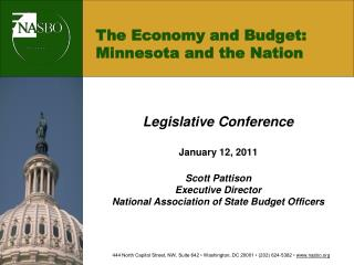 The Economy and Budget: Minnesota and the Nation