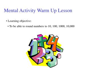 Mental Activity Warm Up Lesson