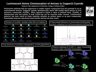 Luminescent Amine Chemisorption of Amines to Copper(I) Cyanide
