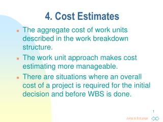 4. Cost Estimates