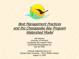 Best Management Practices  and the Chesapeake Bay Program  Watershed Model