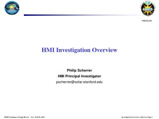 HMI Investigation Overview