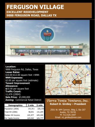 Tierra Venta Ventures, Inc . Robert D. Girdley – President 2501 W. WM Cannon, Bldg 2, Ste 207