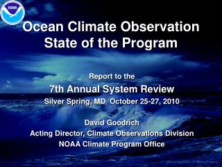 Ocean Climate Observation State of the Program