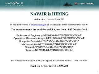 NAVAIR is HIRING