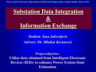 Substation Data Integration & Information Exchange