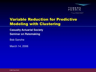Variable Reduction for Predictive Modeling with Clustering