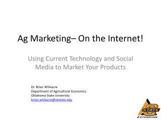 Ag Marketing– On the Internet!