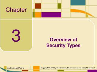Overview of  Security Types