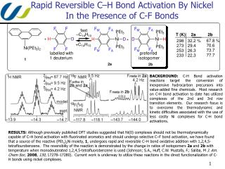 Rapid Reversible C–H Bond Activation By Nickel In the Presence of C-F Bonds