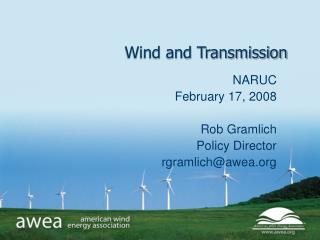 Wind and Transmission