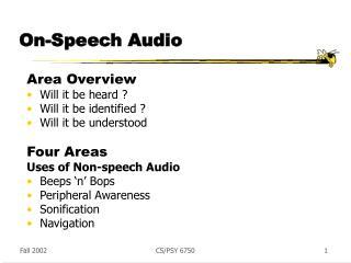On-Speech Audio