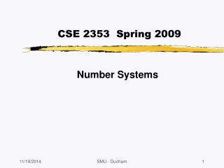 CSE 2353  Spring  2009