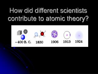 How did different scientists contribute to atomic theory?
