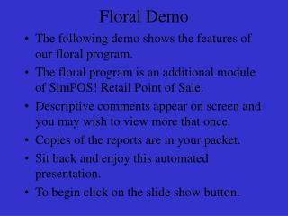 Floral Demo