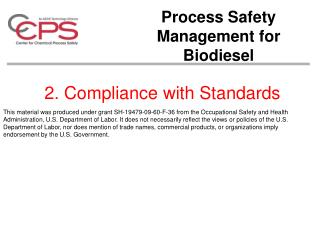 2. Compliance with Standards
