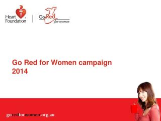 Go Red for Women  campaign 2014