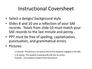 Instructional Coversheet