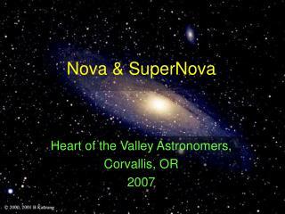 Nova & SuperNova