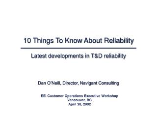 10 Things To Know About Reliability