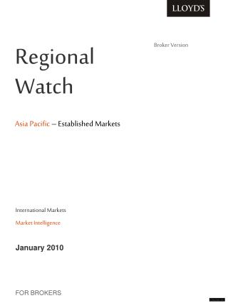 Regional         Watch   Asia Pacific  – Established Markets