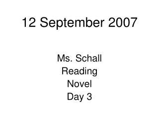 12 September 2007