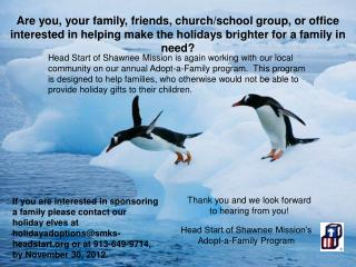 Head Start of Shawnee Mission�s   Adopt-a-Family Program