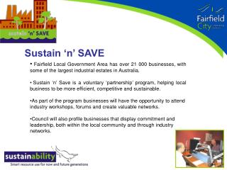 Sustain 'n' SAVE