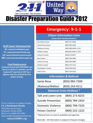 Disaster Preparation Guide 2012