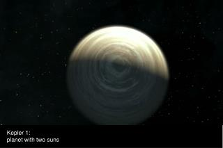 Kepler 1: planet with two suns